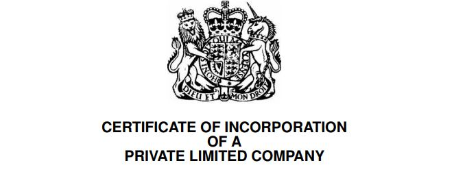 Price Davis Accountants Stroud Certificate of Incorporation