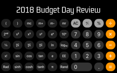 2018 Budget Day Review