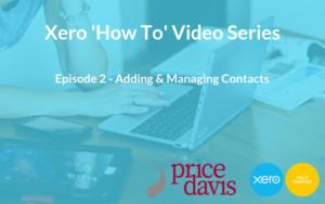 Price Davis Accountants in Stroud Xero 'How To' Contacts Blog