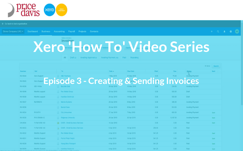 Xero 'How To' Series: Creating and Sending Invoices